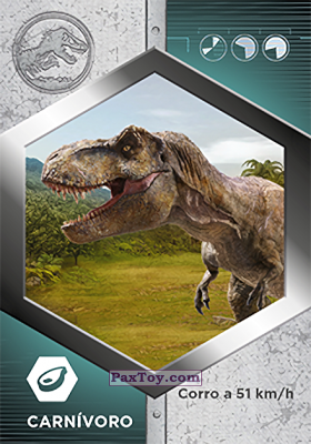 PaxToy.com - 46 Tiranosaurio Rex из Supermercados DIA: Jurassic World - Cards