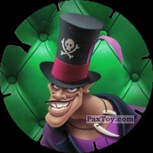 PaxToy.com  Фишка / POG / CAP / Tazo 60 Docteur Facilier (Les Méchants) из Mega Image: Super Flizz 2