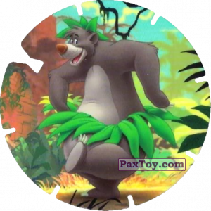PaxToy.com  Фишка / POG / CAP / Tazo 68 Baloo (Le Livre de la Jungle) из Mega Image: Super Flizz 2