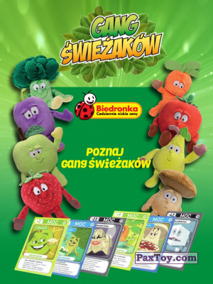 PaxToy Biedronka   2016 Gang Swieżaków 1 (cards & toys) logo tax