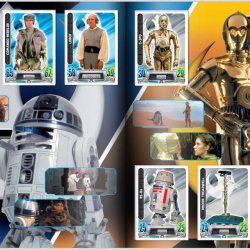 PaxToy Carrefour   2016 Star Wars Heroes y Villanos (Force Attax)   Album 11 12 Completo