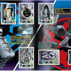 PaxToy Carrefour   2016 Star Wars Heroes y Villanos (Force Attax)   Album 17 18 Completo