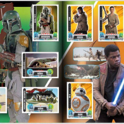 PaxToy Carrefour   2016 Star Wars Heroes y Villanos (Force Attax)   Album 21 22 Completo
