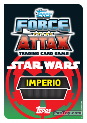 PaxToy.com - Карточка / Card 031 Mon Mothma (Сторна-back) из Carrefour: Star Wars Heroes y Villanos Force Attax