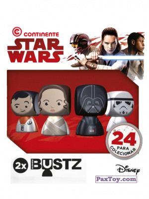 PaxToy Continente 2017 Star Wars Force Attax Bustz logo tax