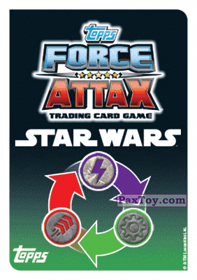 PaxToy.com - 001 Anakin Skywalker (Сторна-back) из Topps: Star Wars Force Attax Heroes y Villanos from Continente