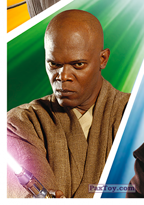 PaxToy.com - S08 Mace Windu из Carrefour: Star Wars El Camino De Los Jedi (Stickers)