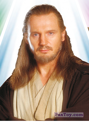 PaxToy.com - S09 Qui-Gon Jinn из Carrefour: Star Wars El Camino De Los Jedi (Stickers)
