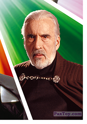 PaxToy.com - S18 Conde Dooku из Carrefour: Star Wars El Camino De Los Jedi (Stickers)
