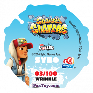 PaxToy.com - 003 Jake (Сторна-back) из Sabritas: Subway surfers