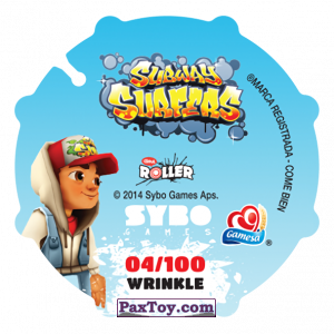 PaxToy.com - 004 Fresh (Сторна-back) из Sabritas: Subway surfers