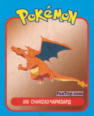 PaxToy.com - 006 Charizad / Чаризард из Pokemon mini BOX