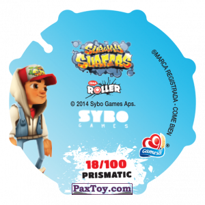 PaxToy.com - 018 Tricky, Spike, Yutani & Jake (Сторна-back) из Sabritas: Subway surfers