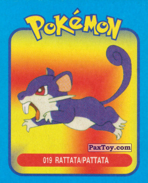 PaxToy.com - 019 Rattata / Раттата из Pokemon mini BOX