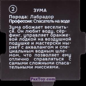 PaxToy.com - 02 Пазл - Зума (Сторна-back) из Растишка: Щенячий патруль