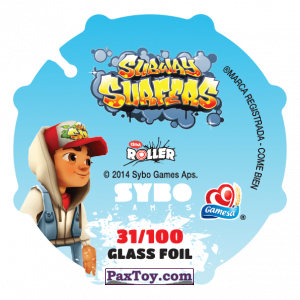 PaxToy.com - 031 Jake (Сторна-back) из Sabritas: Subway surfers