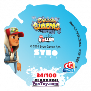 PaxToy.com - 034 Jake (Сторна-back) из Sabritas: Subway surfers