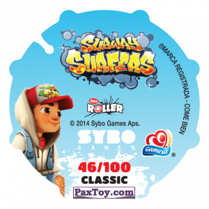 PaxToy.com - 046 Jake (Сторна-back) из Sabritas: Subway surfers