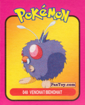 PaxToy.com - 048 Venonat / Венонат из Pokemon mini BOX
