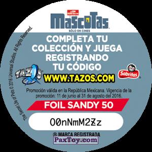 PaxToy.com - 050 Te Conozco (Сторна-back) из Cheetos: La Vida Secreta De Tus Mascotas