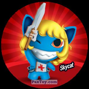 PaxToy.com  Фишка / POG / CAP / Tazo 054 Skycat из Gamesa: Super Funki Punky