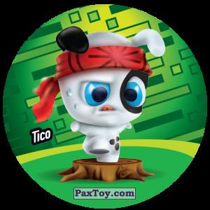 PaxToy.com  Фишка / POG / CAP / Tazo 055 Tico из Gamesa: Super Funki Punky