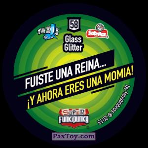 PaxToy.com - Фишка / POG / CAP / Tazo 058 Ashley (Сторна-back) из Gamesa: Super Funki Punky