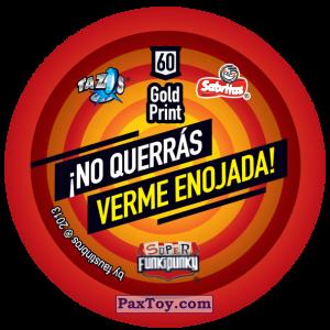 PaxToy.com - Фишка / POG / CAP / Tazo 060 Bunnie (Сторна-back) из Gamesa: Super Funki Punky