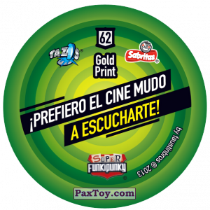 PaxToy.com - Фишка / POG / CAP / Tazo 062 Cranky (Сторна-back) из Gamesa: Super Funki Punky