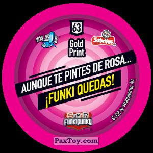 PaxToy.com - Фишка / POG / CAP / Tazo 063 Lennie (Сторна-back) из Gamesa: Super Funki Punky