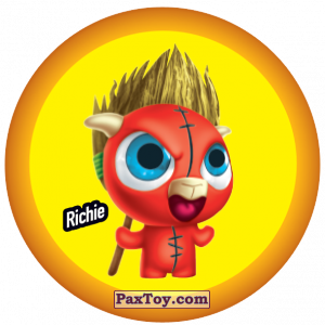 PaxToy.com  Фишка / POG / CAP / Tazo 064 Richie из Gamesa: Super Funki Punky