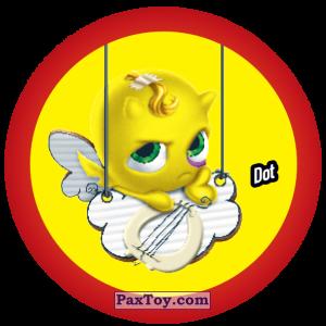 PaxToy.com  Фишка / POG / CAP / Tazo 066 Dot из Gamesa: Super Funki Punky