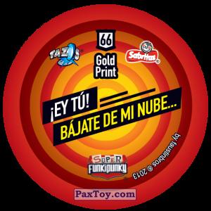 PaxToy.com - Фишка / POG / CAP / Tazo 066 Dot (Сторна-back) из Gamesa: Super Funki Punky