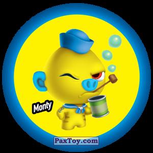 PaxToy.com  Фишка / POG / CAP / Tazo 067 Monty из Gamesa: Super Funki Punky