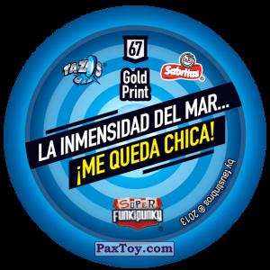 PaxToy.com - Фишка / POG / CAP / Tazo 067 Monty (Сторна-back) из Gamesa: Super Funki Punky