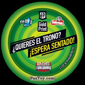 PaxToy.com - Фишка / POG / CAP / Tazo 069 Dot (Сторна-back) из Gamesa: Super Funki Punky