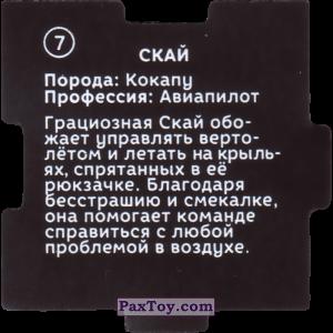 PaxToy.com - 07 Пазл - Скай (Сторна-back) из Растишка: Щенячий патруль