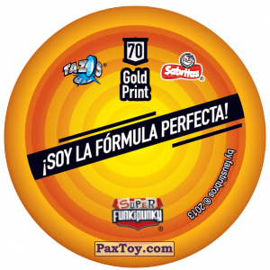 PaxToy.com - Фишка / POG / CAP / Tazo 070 Stinky (Сторна-back) из Gamesa: Super Funki Punky