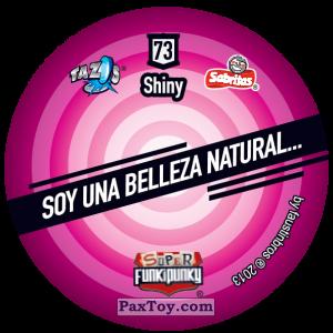 PaxToy.com - Фишка / POG / CAP / Tazo 073 Bunnie (Сторна-back) из Gamesa: Super Funki Punky