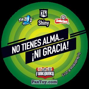 PaxToy.com - Фишка / POG / CAP / Tazo 074 Dot (Сторна-back) из Gamesa: Super Funki Punky