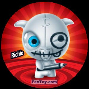 PaxToy.com  Фишка / POG / CAP / Tazo 078 Richie из Gamesa: Super Funki Punky