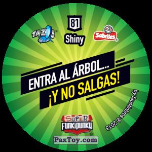 PaxToy.com - Фишка / POG / CAP / Tazo 081 Bunnie (Сторна-back) из Gamesa: Super Funki Punky