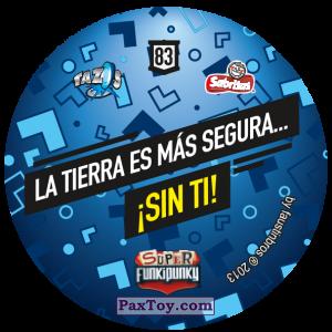 PaxToy.com - Фишка / POG / CAP / Tazo 083 Sniffie (Сторна-back) из Gamesa: Super Funki Punky