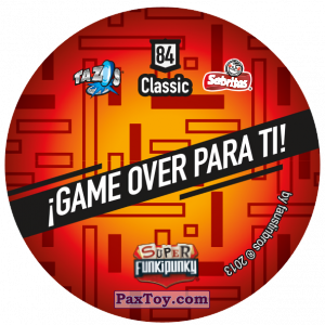 PaxToy.com - Фишка / POG / CAP / Tazo 084 Ashley (Сторна-back) из Gamesa: Super Funki Punky