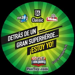 PaxToy.com - Фишка / POG / CAP / Tazo 086 Stinky (Сторна-back) из Gamesa: Super Funki Punky