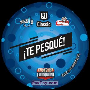 PaxToy.com - Фишка / POG / CAP / Tazo 091 Stinky (Сторна-back) из Gamesa: Super Funki Punky