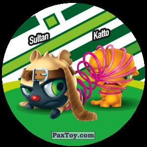 PaxToy.com  Фишка / POG / CAP / Tazo 093 Sultan & Katto из Gamesa: Super Funki Punky