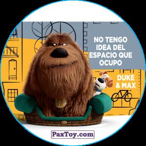 PaxToy.com  Фишка / POG / CAP / Tazo 099 Duke & Max из Cheetos: La Vida Secreta De Tus Mascotas