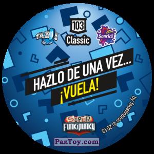 PaxToy.com - Фишка / POG / CAP / Tazo 103 Sniffie (Сторна-back) из Gamesa: Super Funki Punky