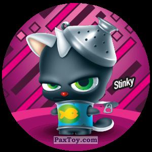 PaxToy.com  Фишка / POG / CAP / Tazo 104 Stinky из Gamesa: Super Funki Punky